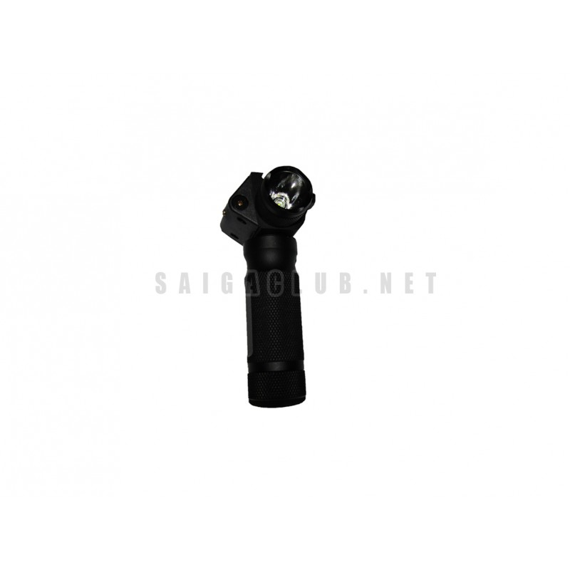 Grip with flashlight and laser sight