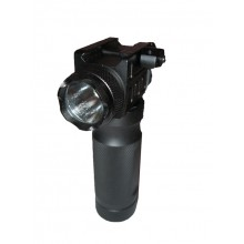 Foregrip with flashlight